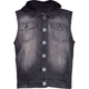 HIGHWAY Girls Hooded Denim Vest