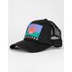 BILLABONG Across Waves Womens Black Trucker Hat