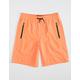 NITROUS BLACK Pull On Boys Neon Orange Hybrid Shorts