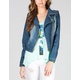 JOU JOU Womens Denim Biker Jacket