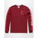 CHAMPION Block C Black Mens Burgundy T-Shirt