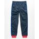 CHAMPION Logo Tape Navy Boys Track Pants