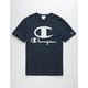 CHAMPION Furry Champion Logo Mens Navy T-Shirt