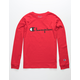 CHAMPION Heritage Script Scarlet Boys T-Shirt