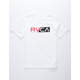 RVCA Lateral Boys White T-Shirt