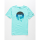 HURLEY Smeared Out Boys Mint T-Shirt
