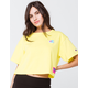 CHAMPION Heritage Yellow Womens Crop Tee