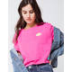 CHAMPION Heritage Hot Pink Womens Crop Tee