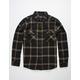BRIXTON Bowery Black & Tan Mens Flannel Shirt