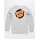 SANTA CRUZ Other Dot Mens Silver T-Shirt