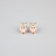 FULL TILT Tiny Stone Owl Stud Earrings