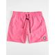 VOLCOM Lido Solid Mens Pink Volley Shorts