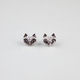 FULL TILT Rhinestone Fox Head Stud Earrings
