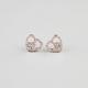 FULL TILT Rhinestone Heart Peace Stud Earrings