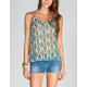 FULL TILT Ethnic Print Womens Bar Back Cami