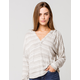 ROXY Sweet Thing Heather Stripes Womens Hooded Top