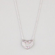 FULL TILT Rhinestone Open Heart Necklace