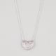 FULL TILT Rhinestone Open Heart Necklace
