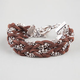 FULL TILT Braided Suede Toggle Bracelet