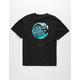 SANTA CRUZ Wave Dot Boys Black T-Shirt