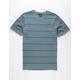 VOLCOM Smithers Mens Blue T-Shirt