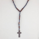 BLUE CROWN Rope Rosary Necklace
