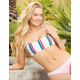 FULL TILT Square Bralette Stripe Bikini Top