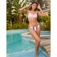 FULL TILT Stripe Cheekier High Leg Bikini Bottoms