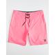 HURLEY O & O Mens Hot Pink Boardshorts