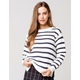 ROXY Deep Honey Stripe Womens Sweater