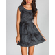 FULL TILT Nail Head Washed Skater Dress