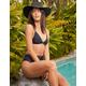 FULL TILT Fixed Triangle Black Bikini Top