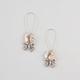 FULL TILT Rhinestone Bow Charm Earrings
