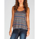 FULL TILT Crochet Back Womens Hi Low Tank