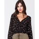 IVY & MAIN Daisy Cinch Tie Front Womens Top