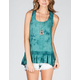 FIRE Tie Dye Crochet Womens Peplum Top