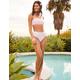 FULL TILT Textured Floral Cheekier High Waist Bikini Bottoms