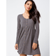 IVY & MAIN Thermal Button Front Babydoll Dress
