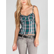 FIRE Plaid Womens Corset Top