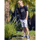 VOLCOM Rainmaker 2 Boys Off White Sweat Shorts