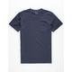 BLUE CROWN Garment Dyed Navy Mens Pocket Tee