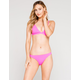 FULL TILT Cheekier High Leg Neon Pink Bikini Bottoms