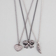 FULL TILT 3 Piece Bow/Heart/Wing Necklaces
