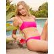 FULL TILT Square Bralette Fuchsia Bikini Top