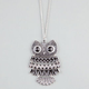 FULL TILT Rhinestone Moving Owl Necklace