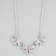FULL TILT Rhinestone 3 Bow Statement Necklace