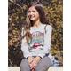 BRAVADO Rolling Stones Oversized Girls Crew Sweatshirt