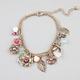 FULL TILT Flower/Dragonfly/Leaf Charm Bracelet