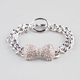 FULL TILT Rhinestone Bow Toggle Bracelet