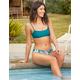 FULL TILT Square Bralette Emerald Bikini Top
